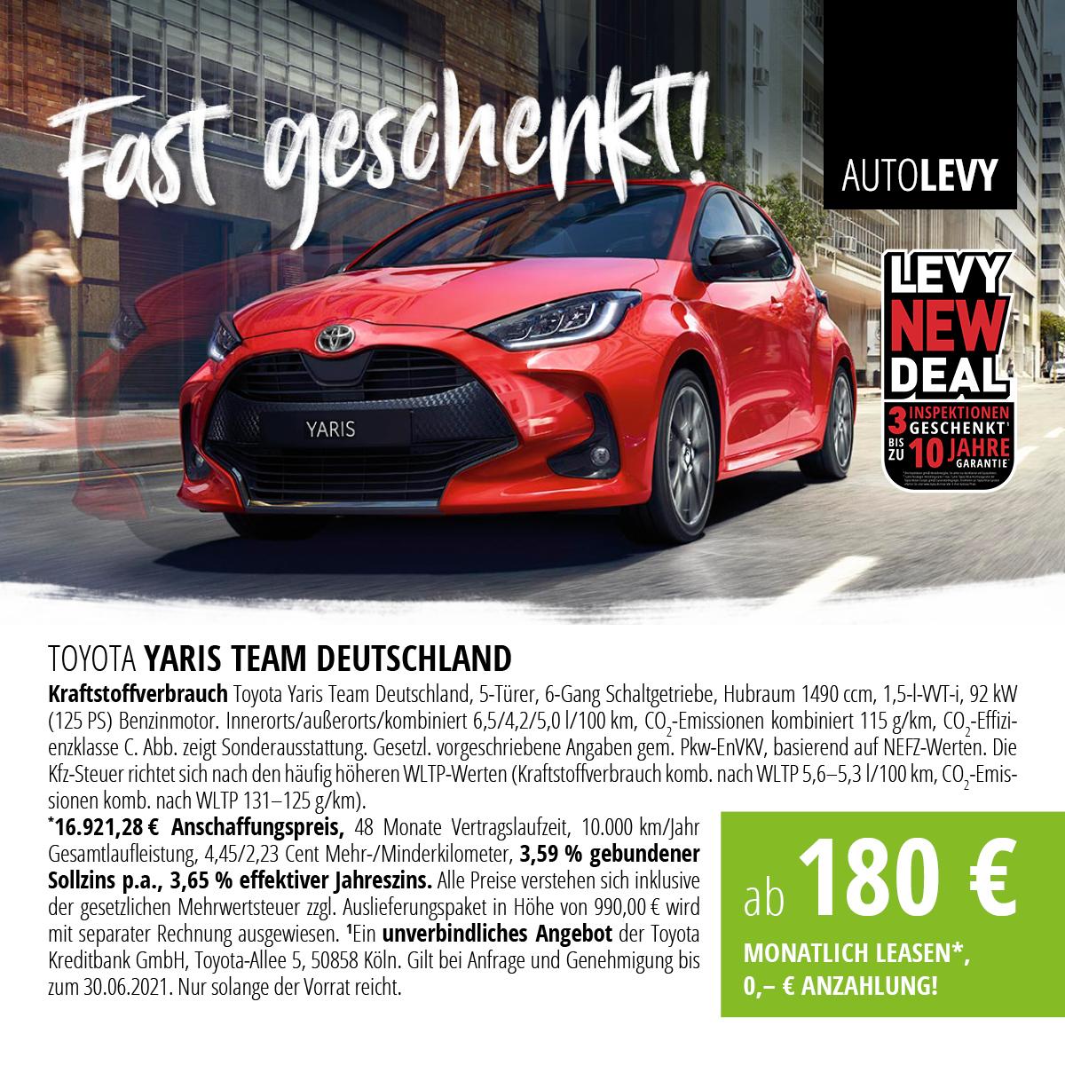 Toyota Yaris Team Deutschland