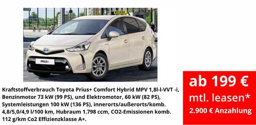 Taxigewerbe: Prius+ Hybrid
