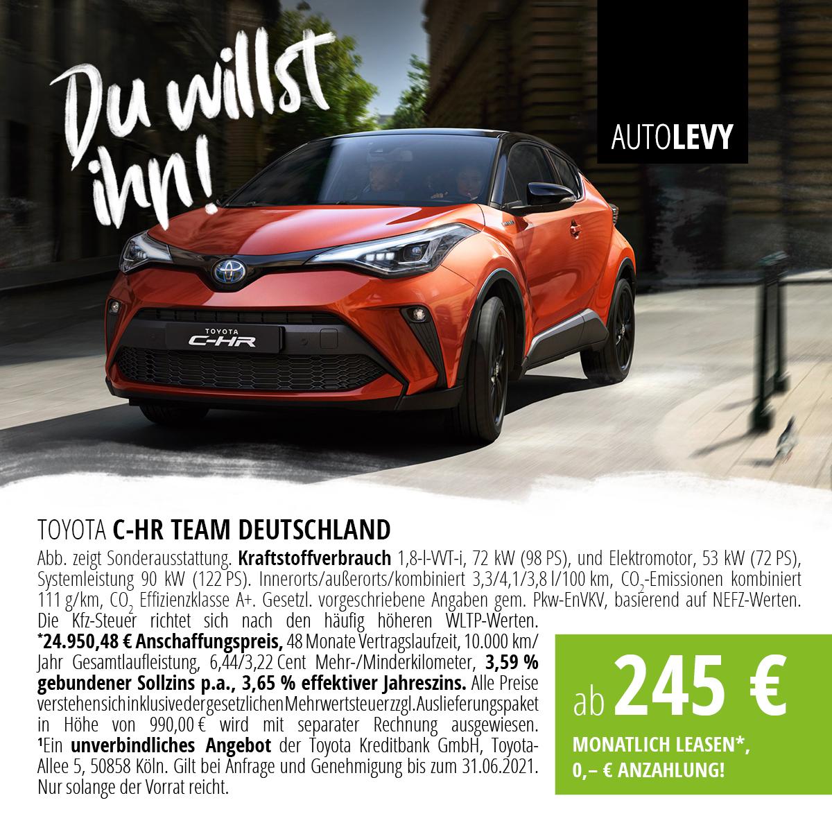 C-HR 1,8-l-Hybrid Team Deutschland