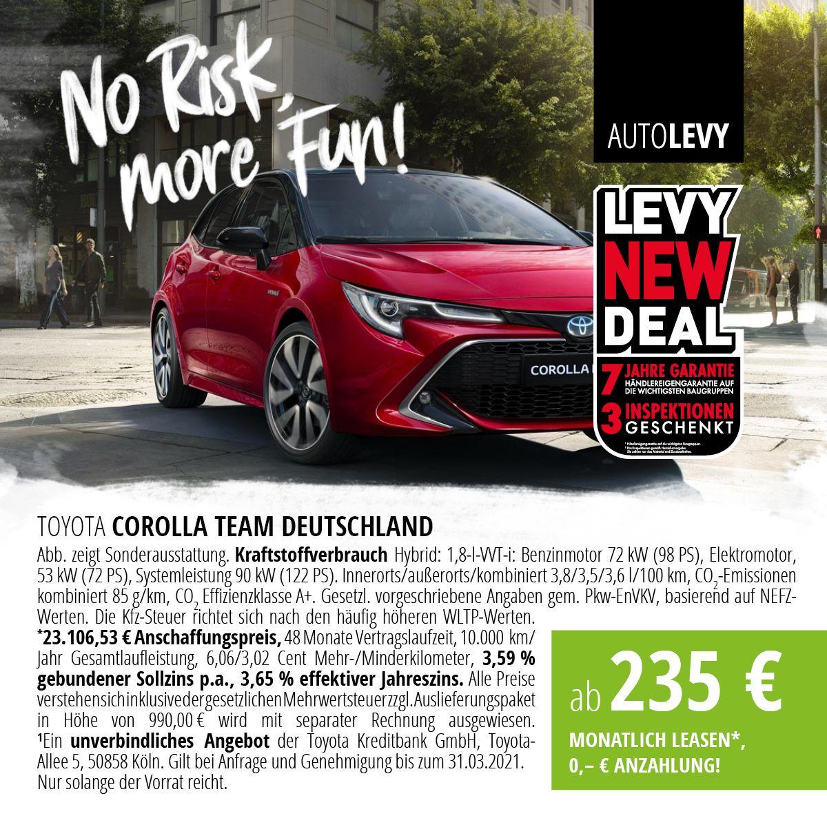 Corolla 1,8-l-Hybrid Knaller Deal